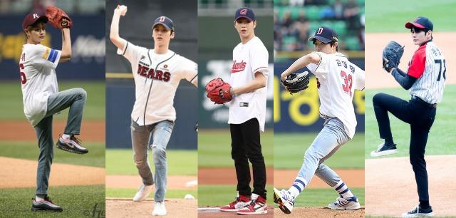 [사진=각 팀 제공] 사진 좌측부터 이대휘, 황민현, 강다니엘, 김재환, 옹성우